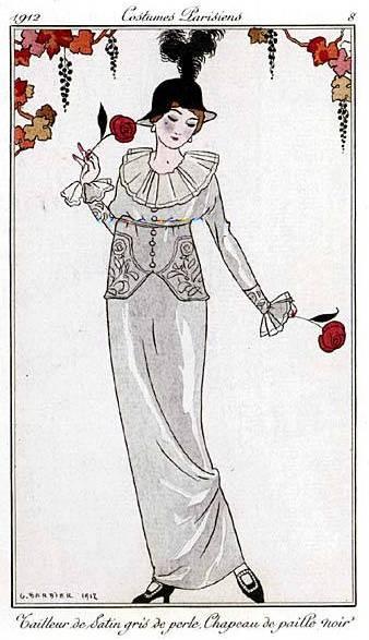 dress 1912 rose