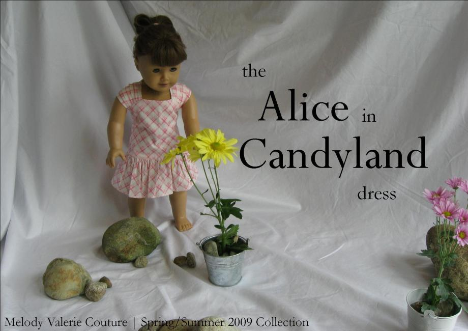 the Alice in Candyland dress