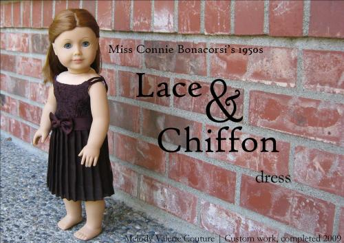lace and chiffon dress