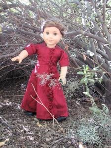 Rebecca in Arizona, wearing the Crimson Bouquet dress