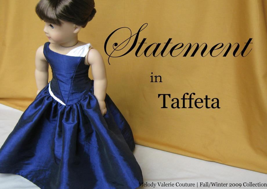the Statement in Taffeta dress