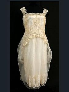 1923 wedding dress on Vintage Textile