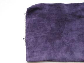 fabric laid flat