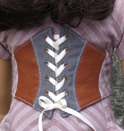 corset laced small